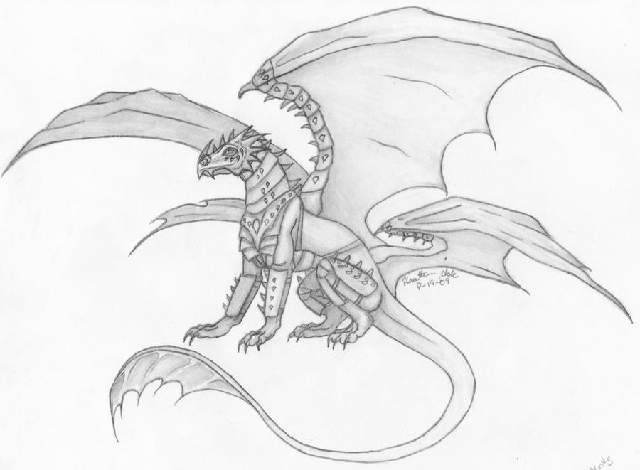 armored white dragon young m. by Volpone on DeviantArt