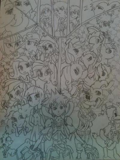 Kingdom Hearts : Equestria Saga (remastered) by XrosBrony