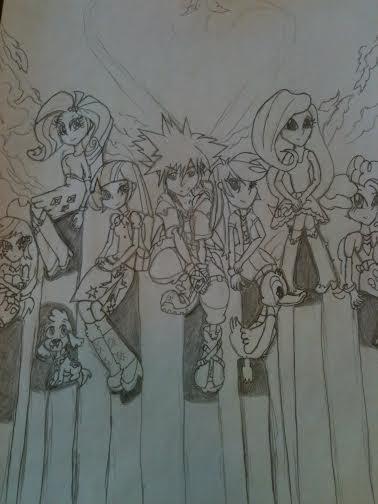 Kingdom Hearts : Equestria Girls by XrosBrony