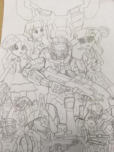MLP EG : Halo Warzone by XrosBrony