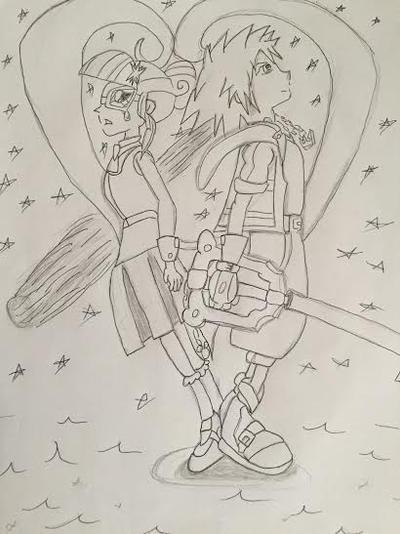 Comission Art Kingdom Hearts Heart of Twilight by XrosBrony
