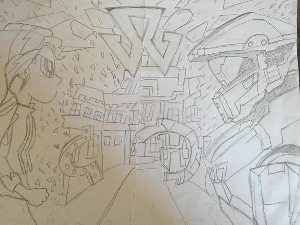 MLP EG Halo Warzone by XrosBrony