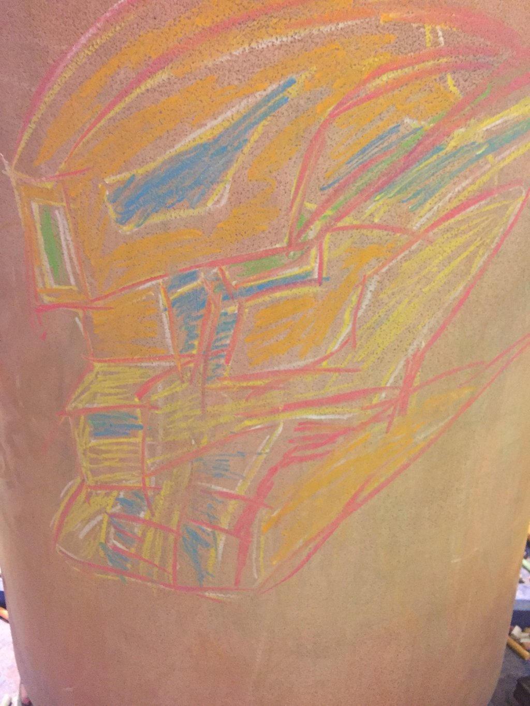 Mysterious Gundam Chalk Drawing  by XrosBrony