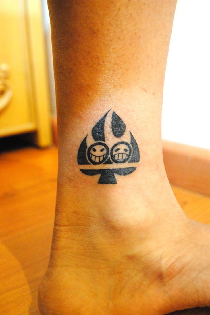 Portgas D Ace Tattoo by wondergunner