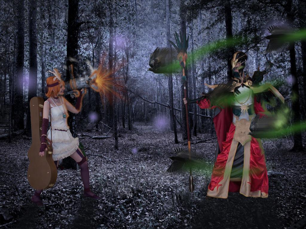Tyrant Swain Vs Mafia Jinx League Of Legends By Dantedart On
