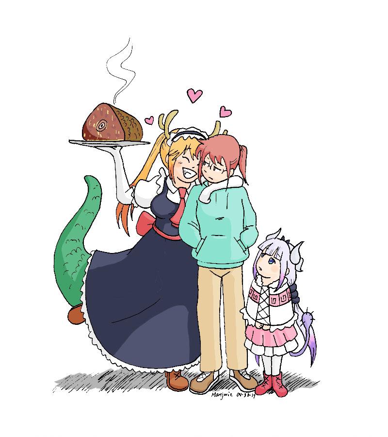 Kobayashi-Chan's friends by MJopaArtist