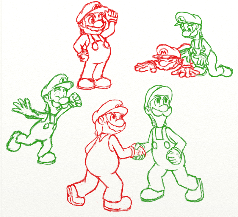 Mario And Luigi Dream Team Doodles By Cutegreendino On Deviantart