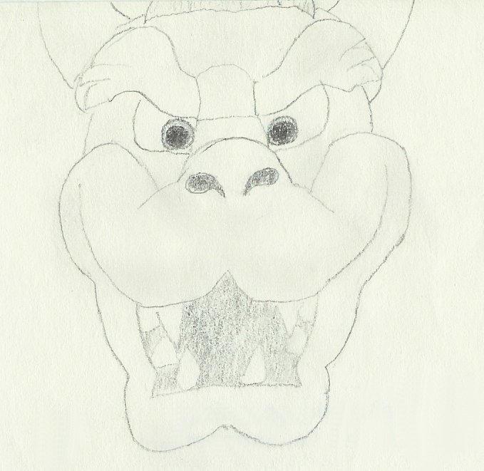 Bowser Face by SabreDragon on DeviantArt