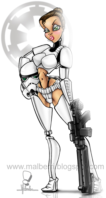 Star Wars - Imperial Pinup by malberri
