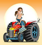 Hot Rod Tractor Pinup