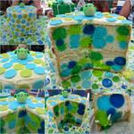Polka Dot Baby Shower Cake (Link to Blog Added!)