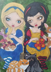Alice and Snow White by aXforamnesty