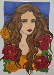 Blue Eyed Girl by aXforamnesty