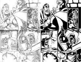 Ultimate Avenger Page 2 Inks by ljamalwalton