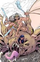 WIP 5: Warmageddon Tarot Devil by ljamalwalton