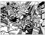 Spidey vs Venom Inks Completed