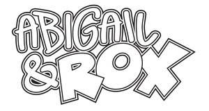 Comic Book Logo Abigail and Rox
