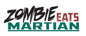 Comic Book Logo Zombie Eats Martian