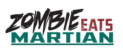 Comic Book Logo Zombie Eats Martian
