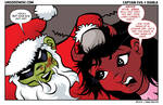 Merry Christmas from Captain Evil and Diabla by ljamalwalton