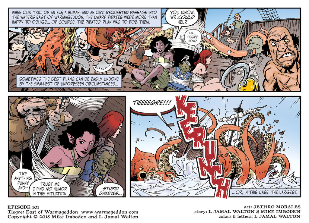 Tiegre: East of Warmageddon Season 1 Strip 1 by ljamalwalton