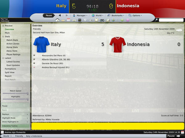 ITALY versus INDONESIA by b0jes