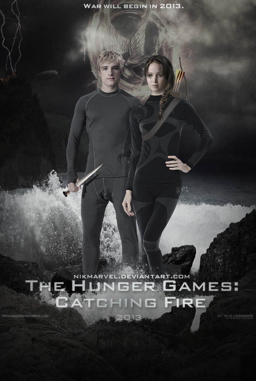 THG: Catching Fire. Katniss and Peeta. Poster. by ...