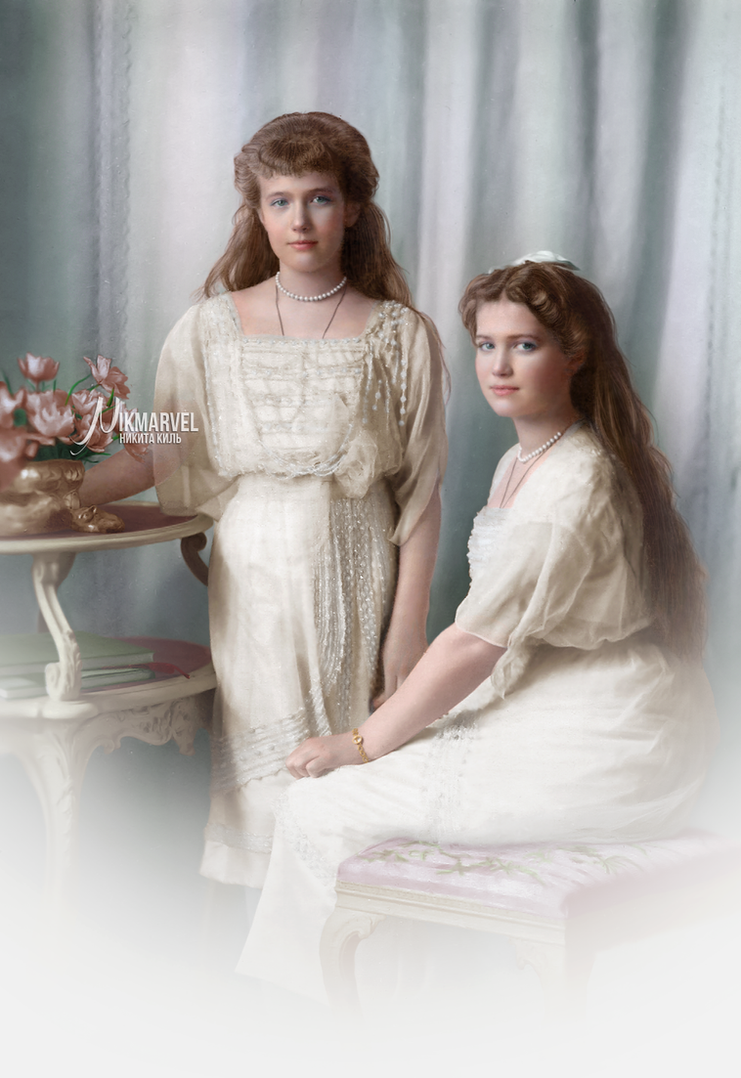 COLOR: Grand Duchesses Anastasia and Maria by Nikmarvel