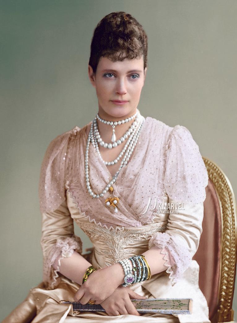 COLOR: Empress Maria Feodorovna of Russia by Nikmarvel