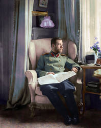 COLOR: Emperor Nicholas II of Russia by Nikmarvel