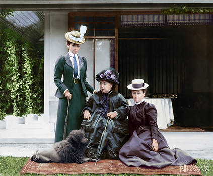 Queen Victoria with granddaughters