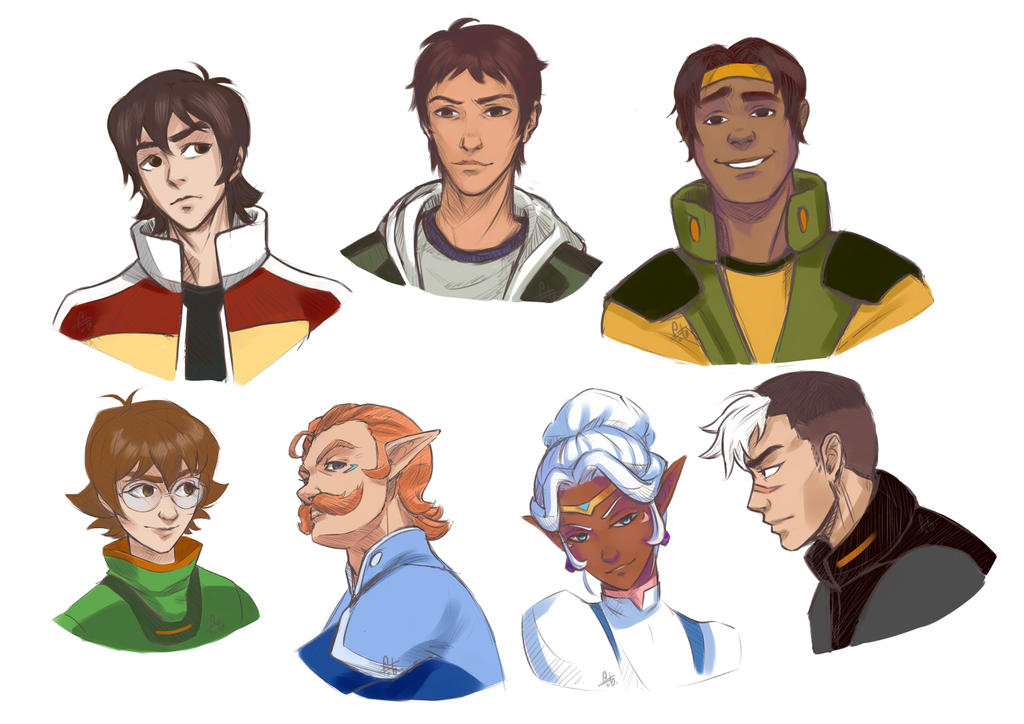 Voltron Team Sketches By Fainttwinkling On DeviantArt
