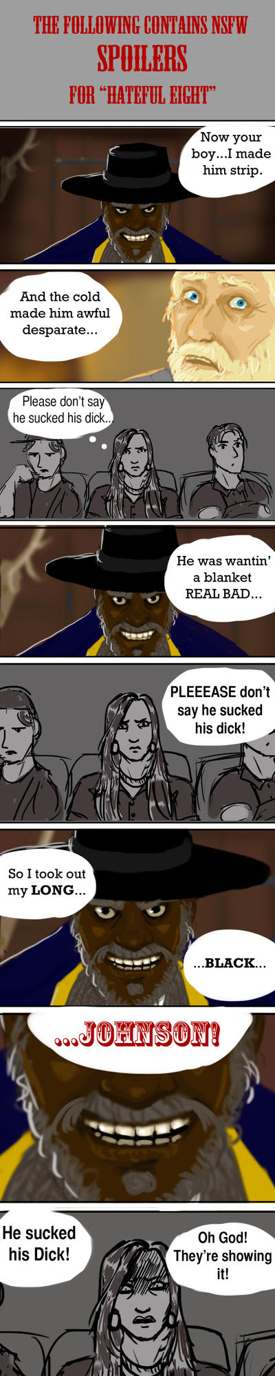 Don't Be a Dick - Hateful Eight Spoiler Alert by Andi-the-Duke