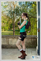 Classic Lara pose by LuceCosplay