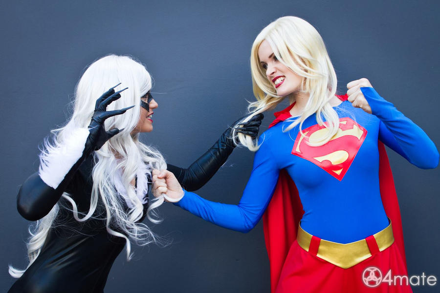 Girl cat fight! by LuceCosplay ...  sc 1 st  DeviantArt & Girl cat fight! by LuceCosplay on DeviantArt