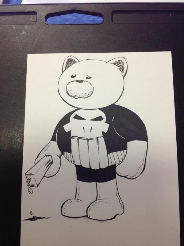 PunisherBear - NYCC2014 Pre-Commission by austinJanowsky