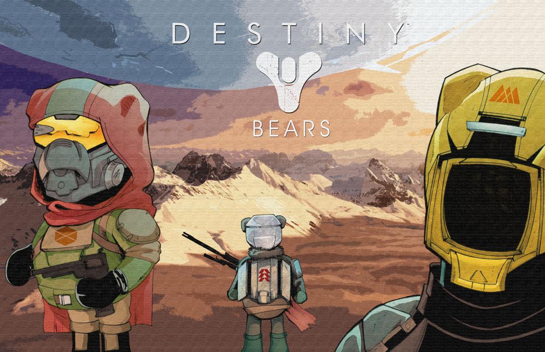 Destiny-Bears NYCC2014 Print by austinJanowsky