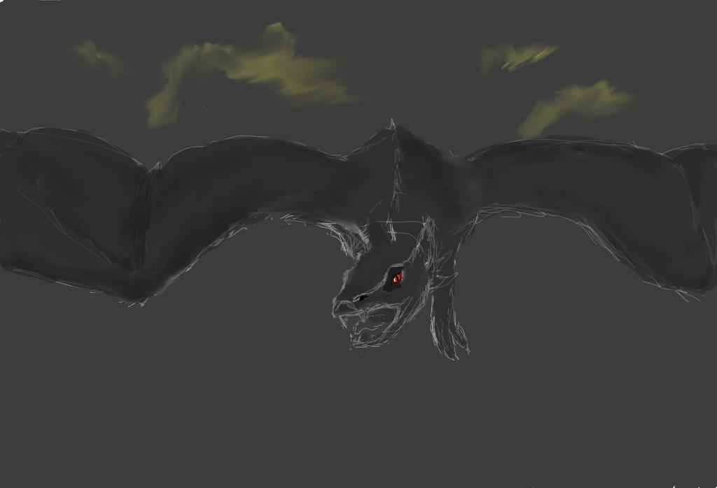 Dark Dragon (sketch) by ClickoClicko