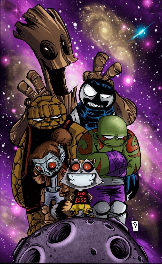 Guardianes-de-la-galaxia by astrogus