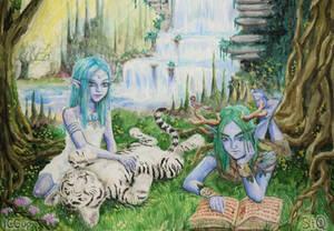 Tyrande and Malfurion by Fuytski