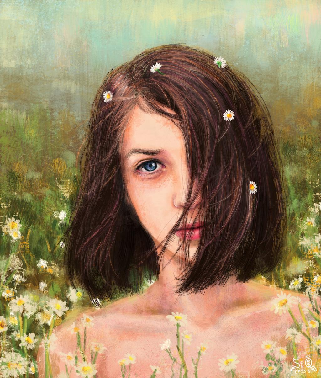 Girl In Flowers by Fuytski