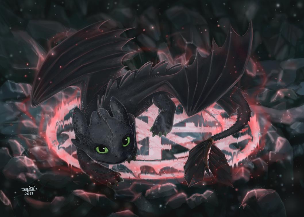Toothless - Night Fury by Fuytski