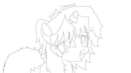 boceto de mi personaje version MLP by marikfull