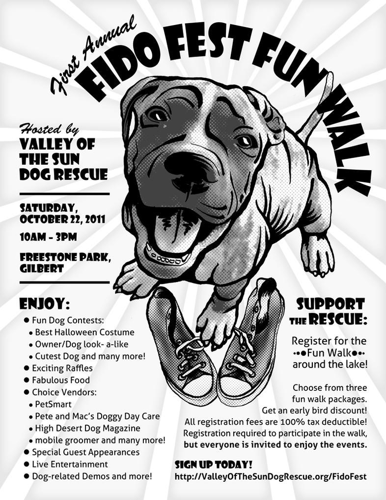 Fido Fest Fun Walk Flyer by BlueCockatoo