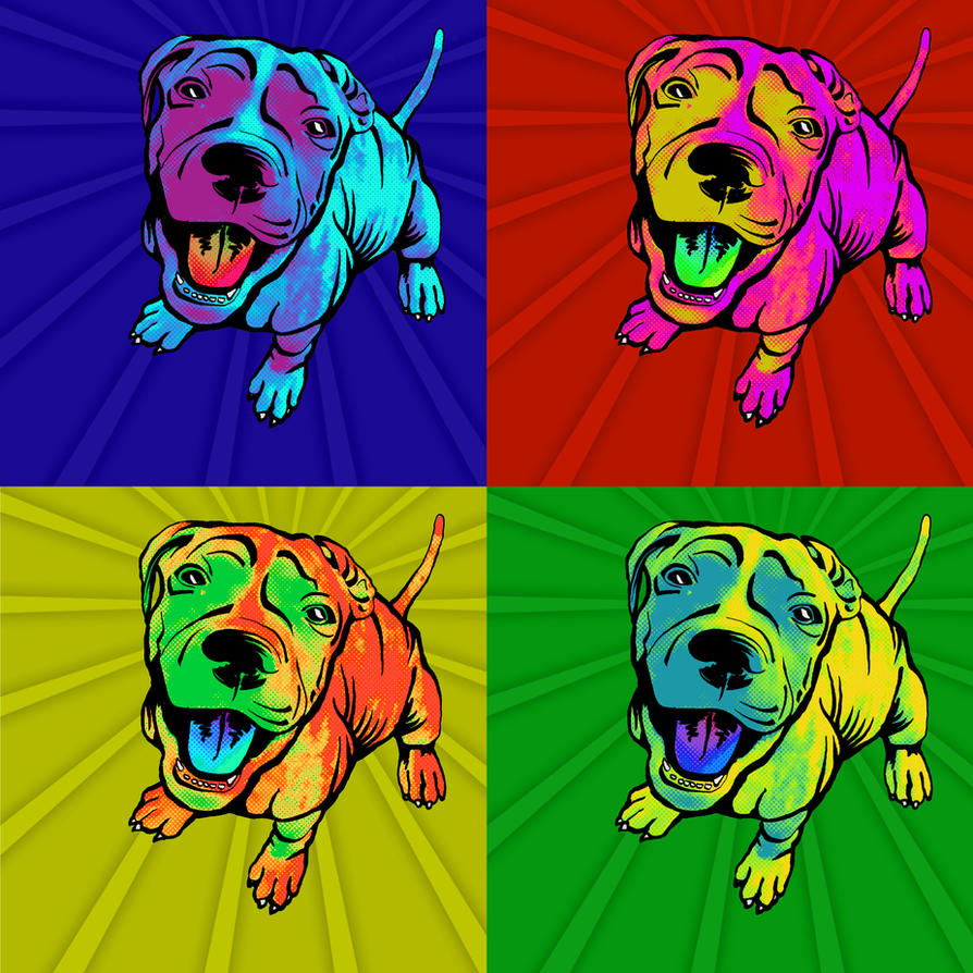Pop Art Pup by BlueCockatoo