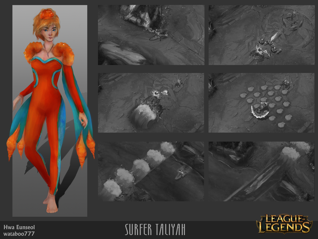 [CONCEPT ART] Surfer Taliyah by wataboo777