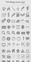 152 Mega Icons Set by femographi