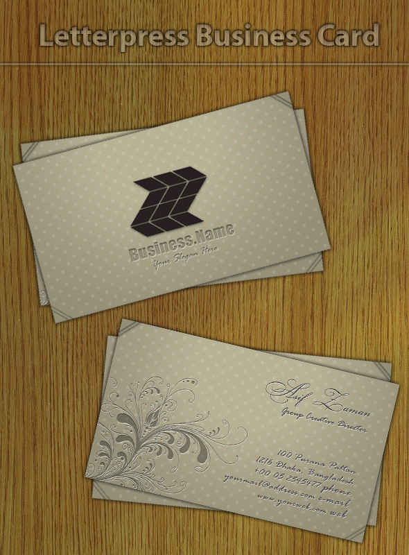 Letterpress Business Card by femographi