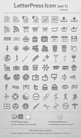 LetterPress Icon_Set 1
