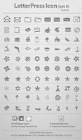 LetterPress Icon_Set 4